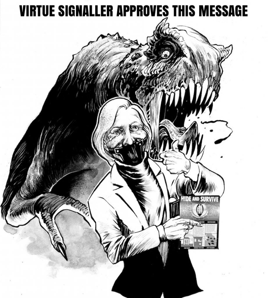 Virtue Signaller from Jurassic Punx by Bruno Stahl and Pat Mills
