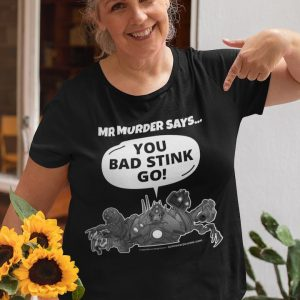 Mr Murder t-shirt black mature lady