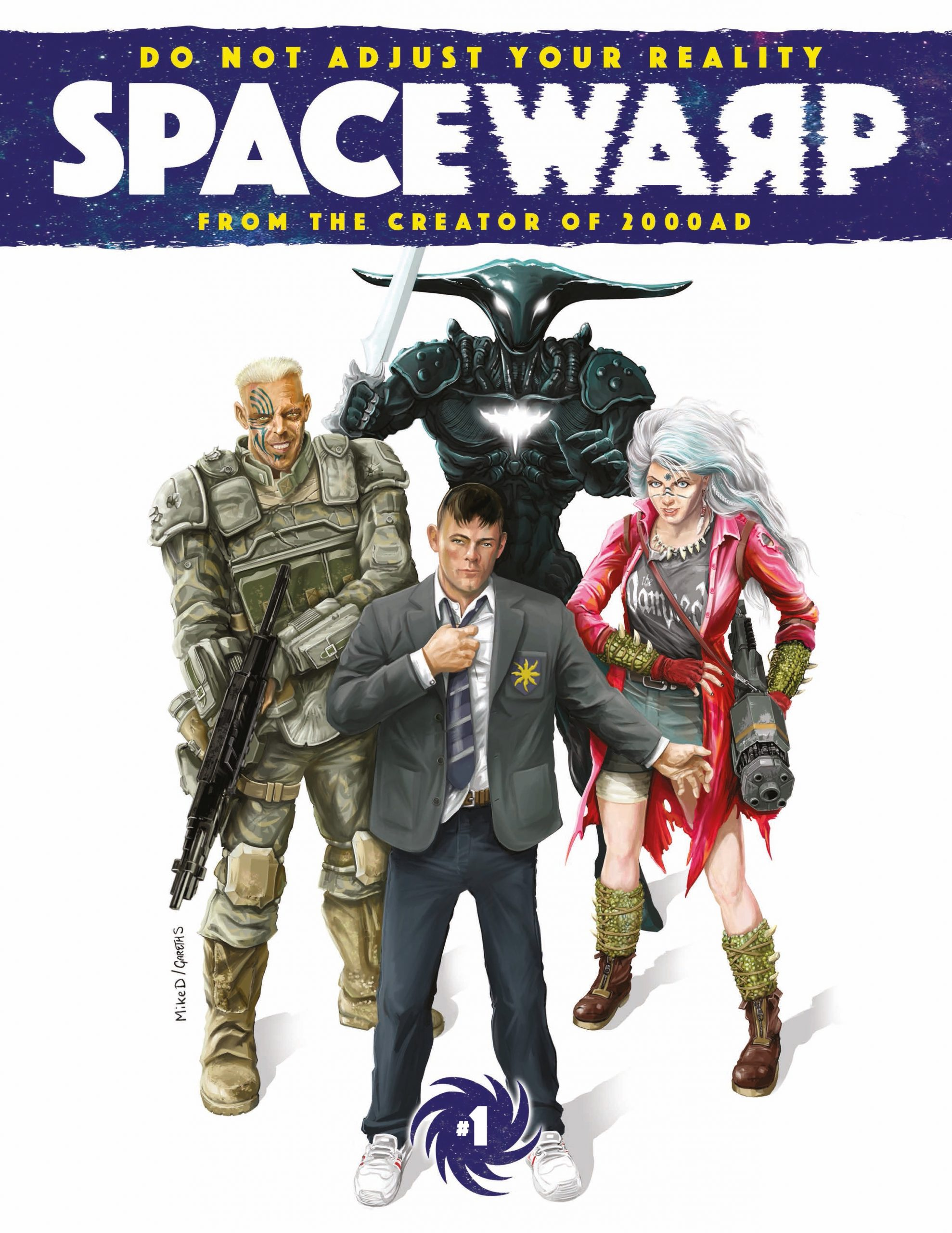 Spacewarp cover by Mike Donaldson and Gareth Sleightholme