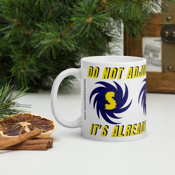 Spacewarp spiral mug DO NOT ADJUST YOUR REALITY