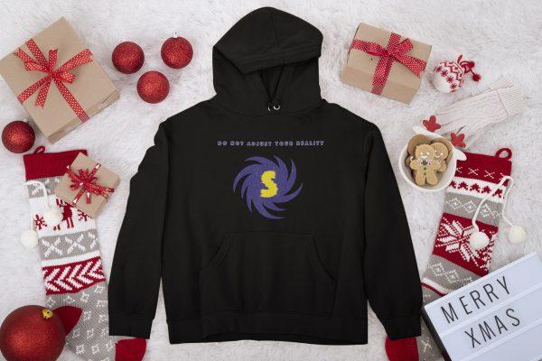 Spacewarp Hoodie Christmas background